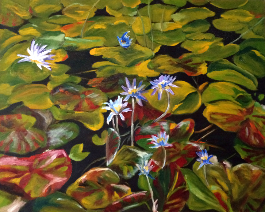 Water Lillies, oil on canvas